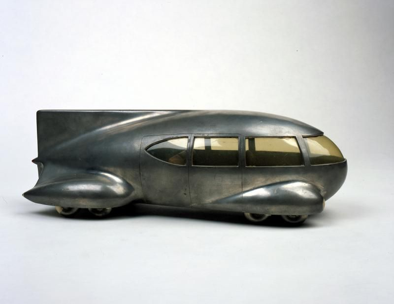 Motor Car No. 9 (with tail fin), a 1933 work by Norman Bel Geddes ...