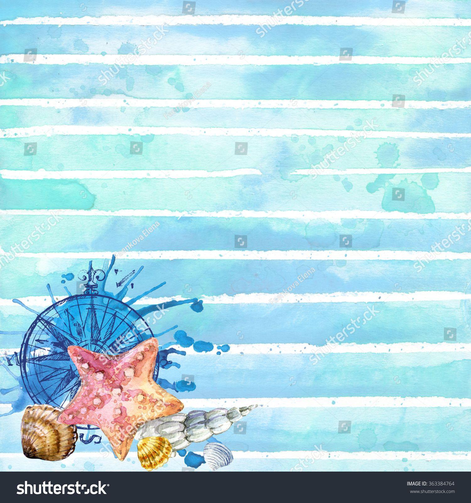 Undersea World Sea Theme Watercolor Wallpaper Sea Depth