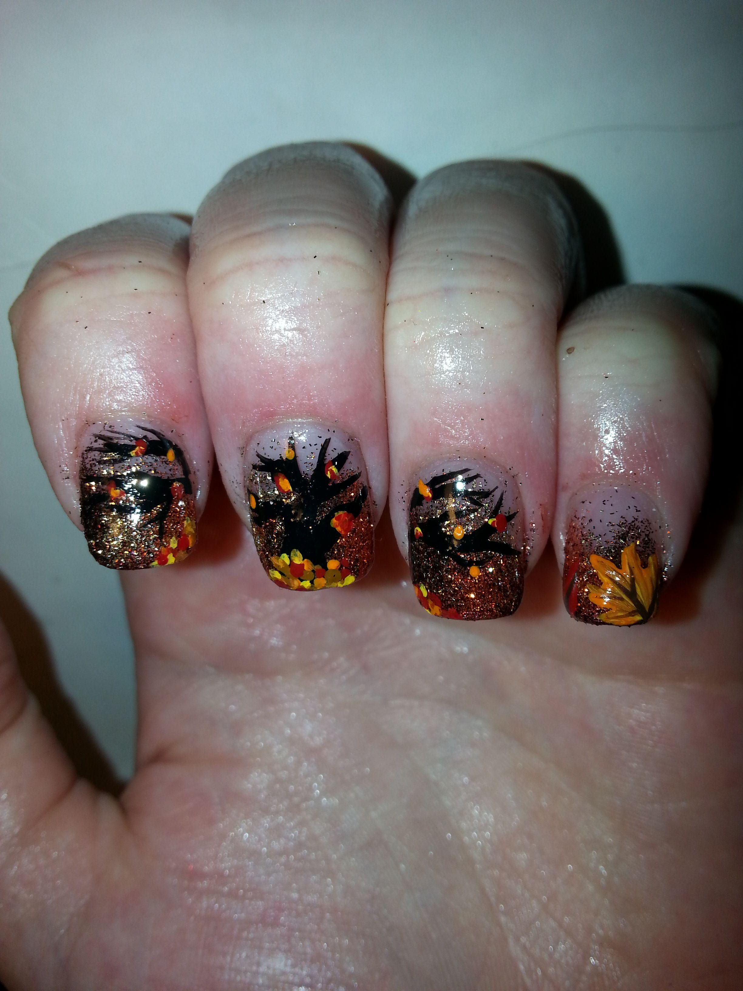 Cute Fall Nail Art Ideas | cute fall inspired nails! | Pinterest ...