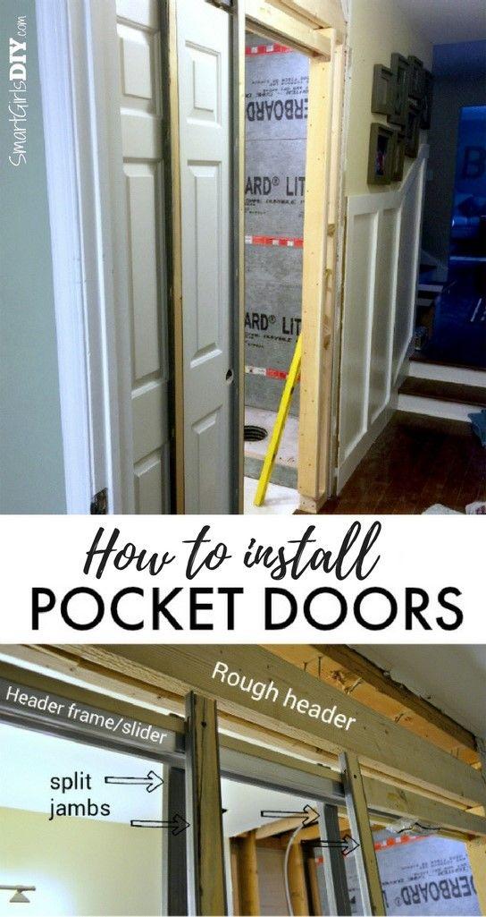 How To Install A Pocket Door Johnson Hardware 1510 Series Pocket Door Installation Pocket Doors Pocket Doors Bathroom