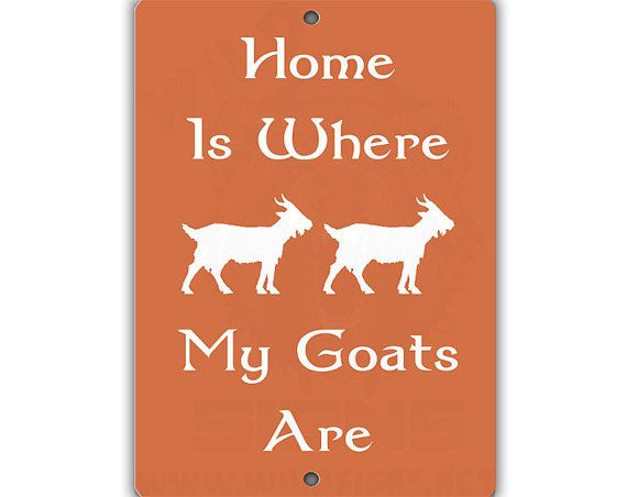 Where My Goats Are Indoor/Outdoor Aluminum by louisescountrycloset