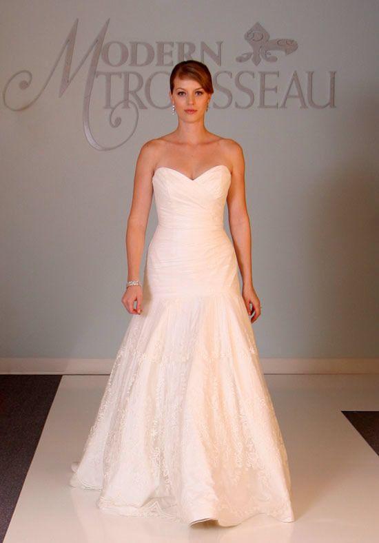 Cheap Simple Design Wholesale Sweetheart Taffeta Drop Waist Wedding Dress