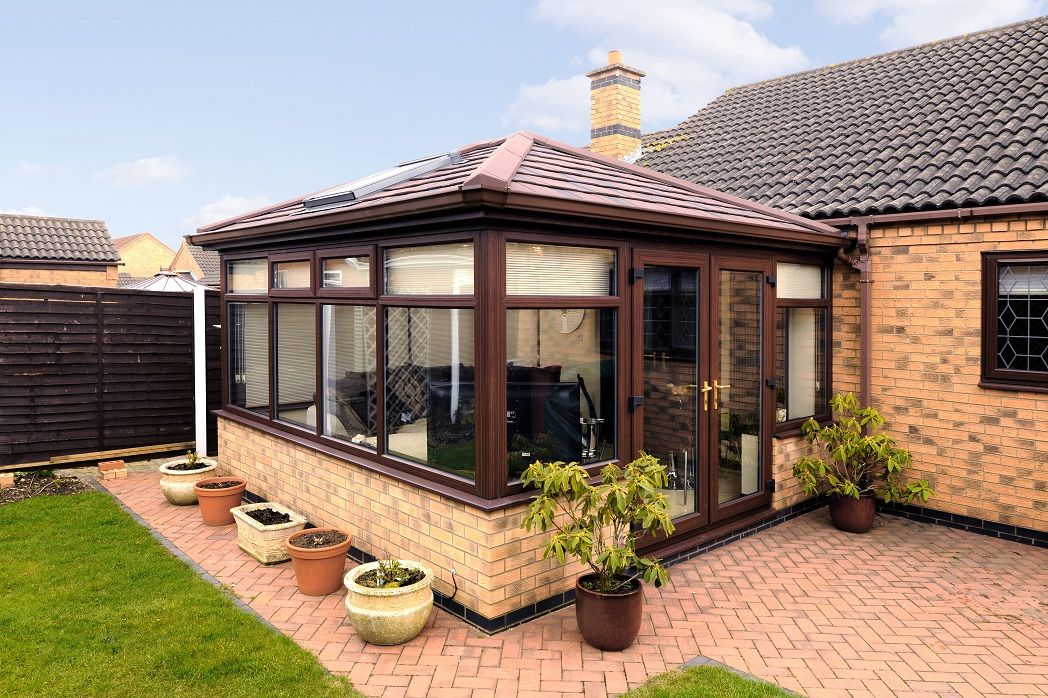 Equinox Tiled Roof System From Eurocell Http Www Eurocell Co Uk Homeowners 504 Equinox 1 House Front Design Patio Deck Designs Tiled Conservatory Roof