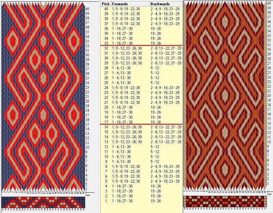 Enhebrados opuestos & movimientos coincidentes //30 tarjetas, 3 colores, repite cada 16 movimientos / sed_762 diseñado en GTT༺❁