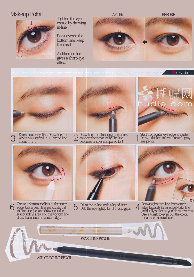 Eye Liner Tutorial; A Little Bit More Of A Natural Look (don't Forget The  Shimmer Stick ;p) #asian  Magic's In The Makeup  Pinterest  Asian Eyes,