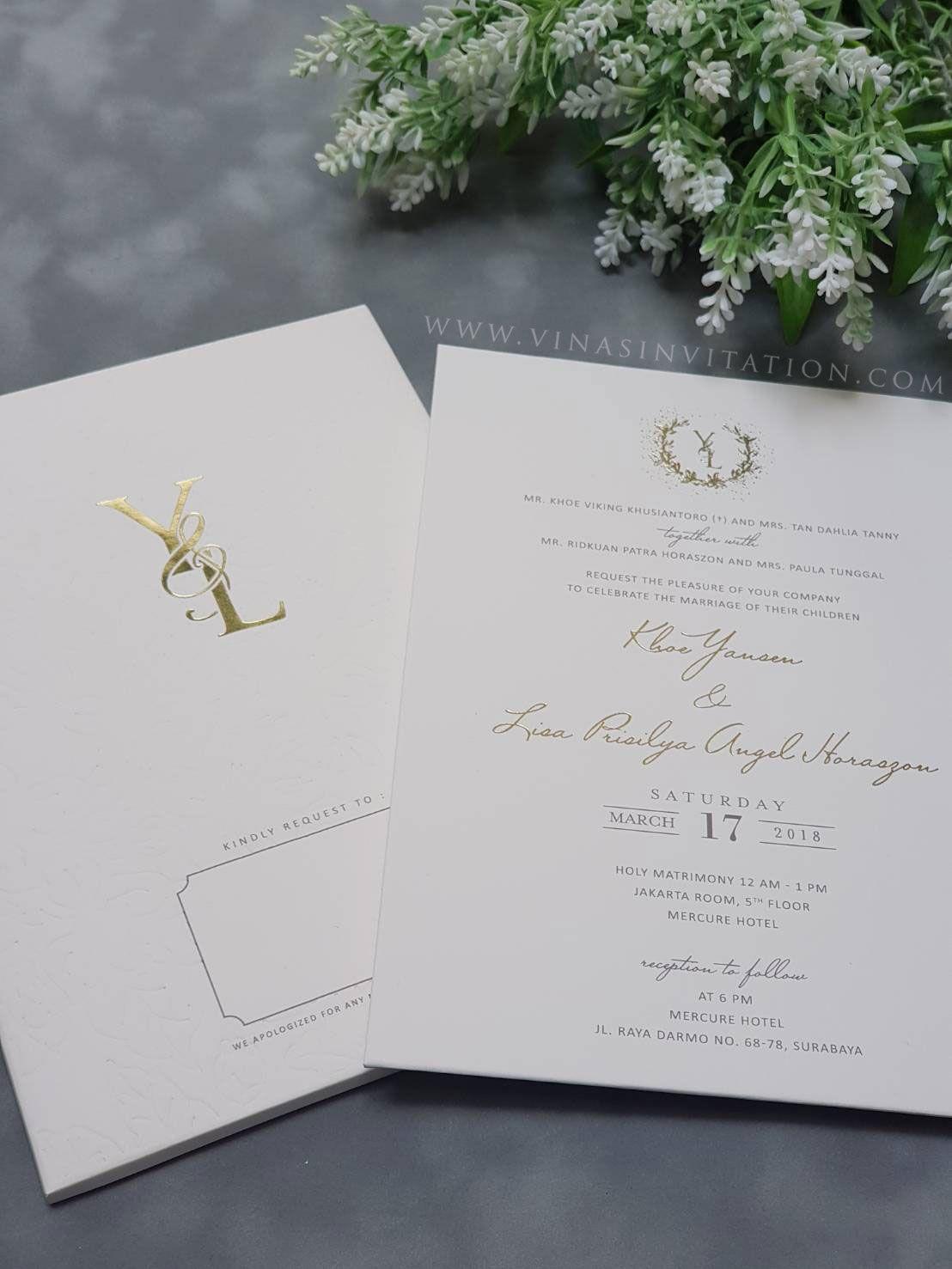 Vinas Invitation Sydney Wedding Invitation Indonesia Wedding