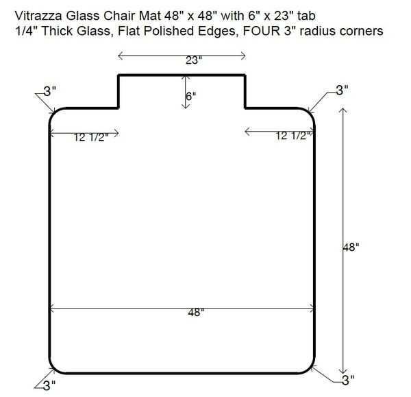 Tabbed Glass Chair Mats Glass Chair Chair Mats Wooden Chair Plans
