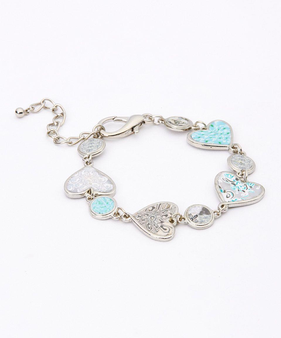 Love this Silver & White Sand Heart Bracelet by Viva Beads ol