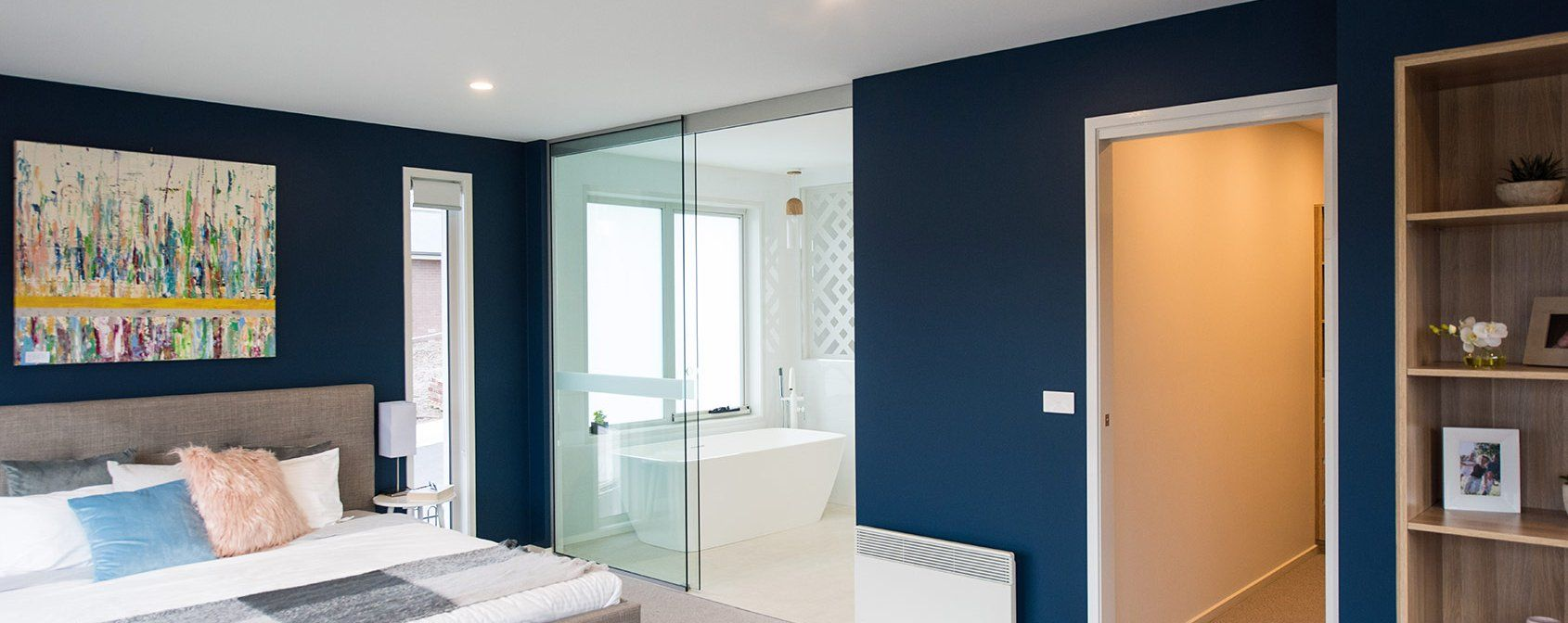 Bold in blue - Sapphire Home Design - On display at Kingston TAS #bluebedroom # & Bold in blue - Sapphire Home Design - On display at Kingston TAS ...