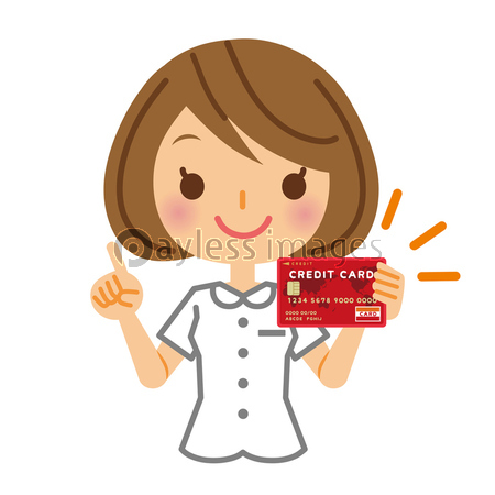 ナース クレジットカードの写真 イラスト素材 Xf3055225757 ペイレスイメージズ 医療イラスト クレジットカード イラスト
