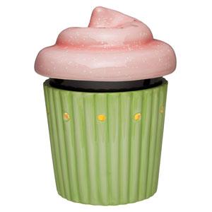 Cupcake Mittelgroßer Scentsy Wärmer    Ein schokoladenbraunes Wärmerschälchen zwischen einem plissierten Unterteil und einer abnehmbaren luftigen Glasur, besprenkelt mit Puderzuckerakzenten und mit Luftlöchern, die leckeren Duft verströmen.    https://christiane-sudau.scentsy.de/Scentsy/Buy/ProductDetails/MLW-CAKE-204