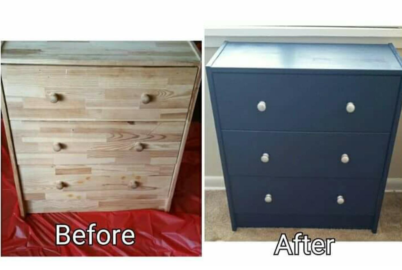 Redid Myself Ikea Rast 3 Drawer Chest I Used A Semi Gloss Paint