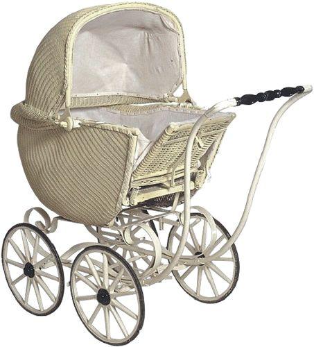 Vintage Lloyd Loom Baby Stroller C 1920 30s Baby