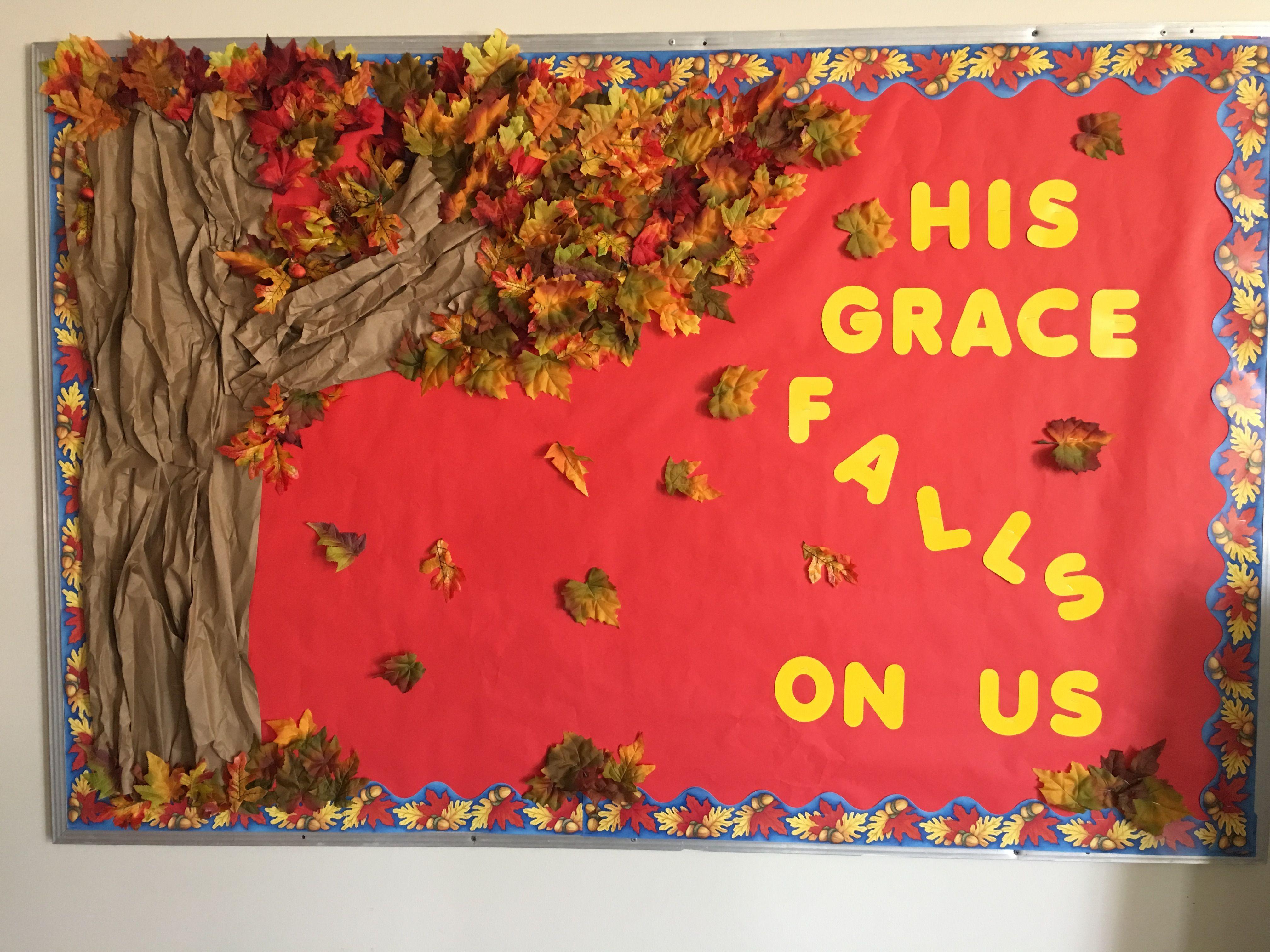 Fall Church Bulletin Board Boards Christian
