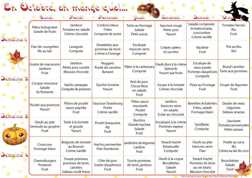 En octobre, on mange quoi ? – menus mensuels #3 | Food ...