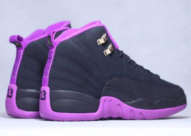 air jordan 12 retro black and purple