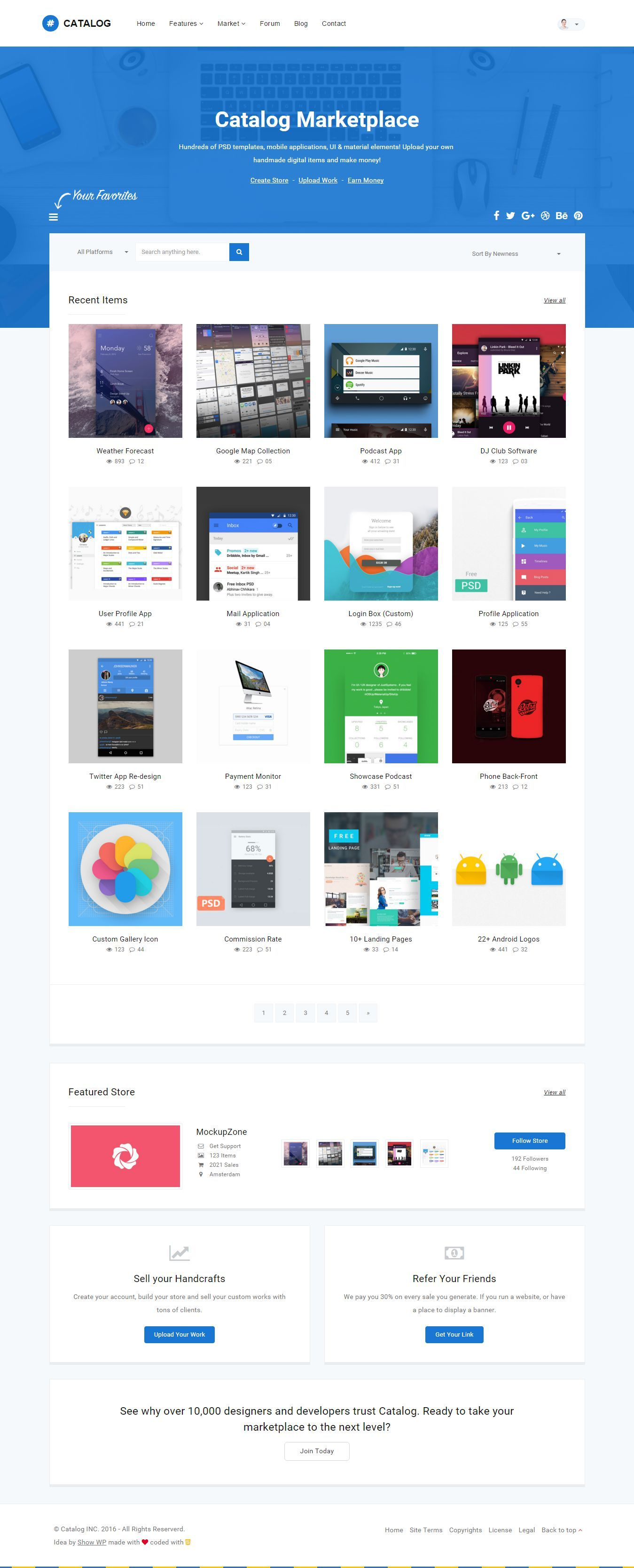 Launch Your Own Marketplace With This Responsive Template Built With Bootstrap Html5 Css And Jquery The Catalog T Template Site Responsive Site Templates