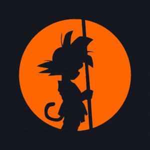 Pegatina Goku Pensativo - Dragon Ball - adhesivosNatos