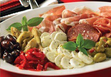 An easy Italian antipasti appetizer platter.