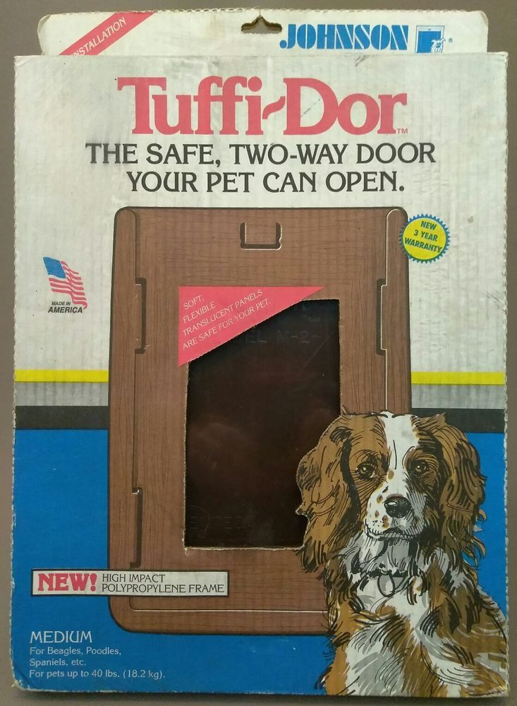 Johnson Pet Dog Door Tuffi Dor Tm 2 Med Up To 40lb Beagles Poodles