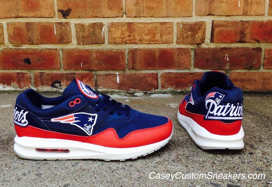 super popular 11010 66404 New England Patriots custom Nike Air Max