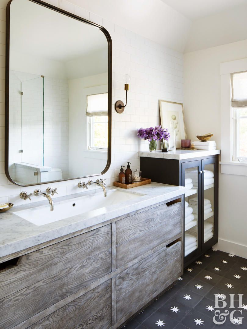 20 Beautifully Smooth Streamlined Walls Designed By: 20 Farmhouse Bathroom Ideas We're Swooning For In 2020