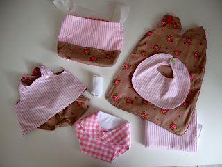 Gevulde luiertas voor poppenmoeder van Ladybug & co