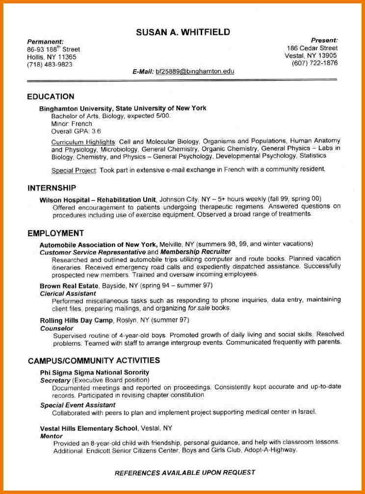 resume examples letter amp example completed Home Design Idea - completed resume examples