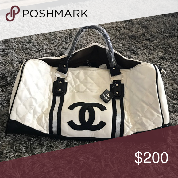 White Chanel Travel Bag Never Used White Quilted 1 1 Quality This Is Non Original Price Reflects It Some Bags Are Just Affordable Bags Chanel Travel Bags