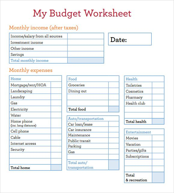 Budget Worksheets In Spanish  Budget Worksheet In Spanish And