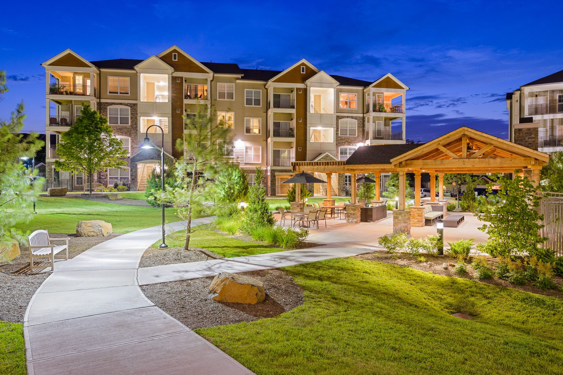 Take A Moonlit Stroll Or Evening Jog At Atley At The Greenway In Ashburn Va Rental Apartments House Styles Mansions