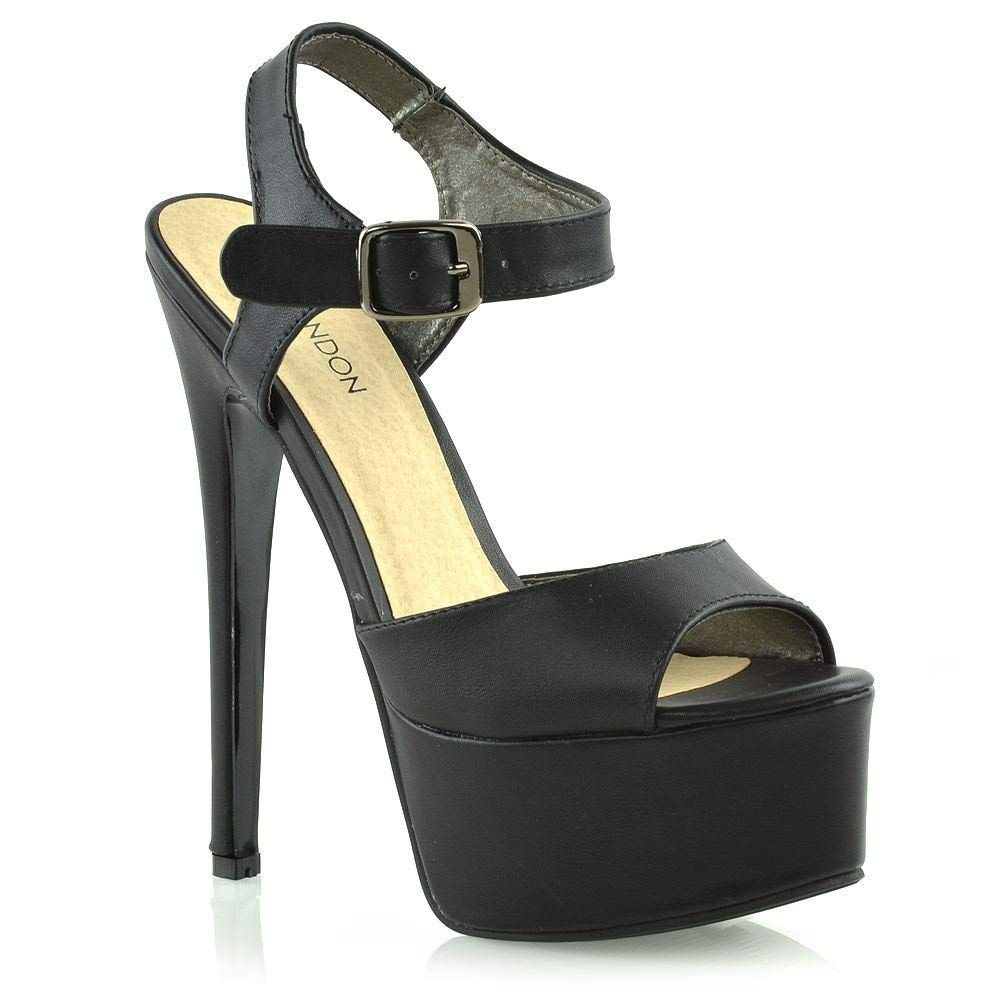37e8137499e ESSEX GLAM Womens Platform Stiletto Heels Ladies Ankle Strap High Heel Prom  Shoes     Thanks for having visited our image. (This is our affiliate link)    ...