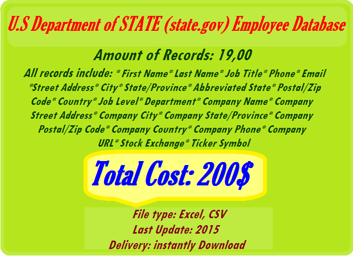 Httpcompanyemaillistsu S Department Of State State Gov
