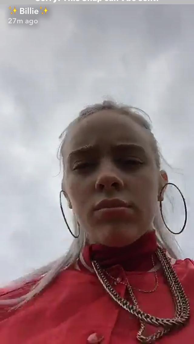 Billie On Her Snapchat Billie Billie Eilish Woman Crush