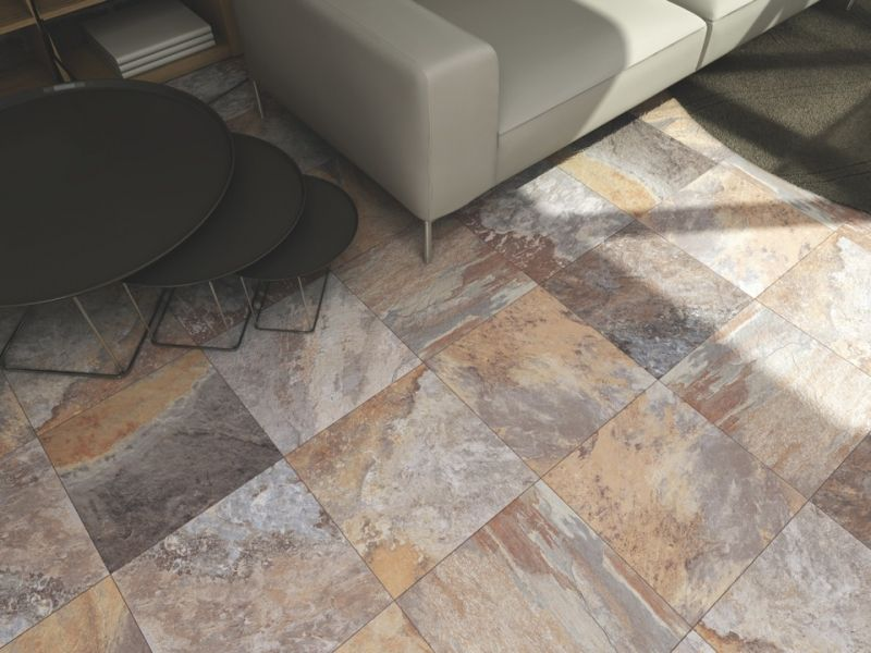 Rajasthan Slate Effect Porcelain Tiles 45x45cm Home Design Tile