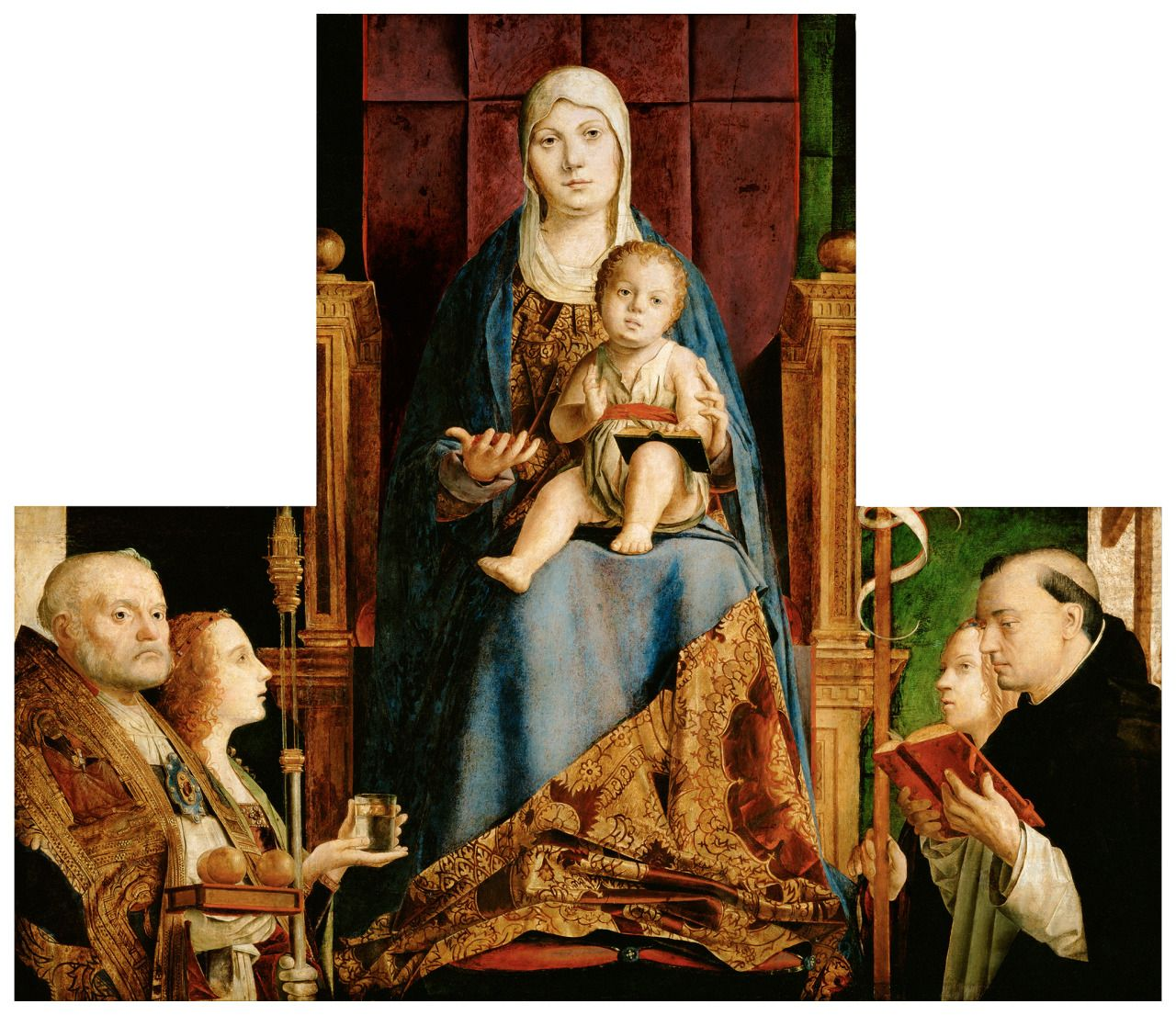MESSINA Antonello da - Madone avec St Nicolas Ste Ursule et St Dominique - 1475