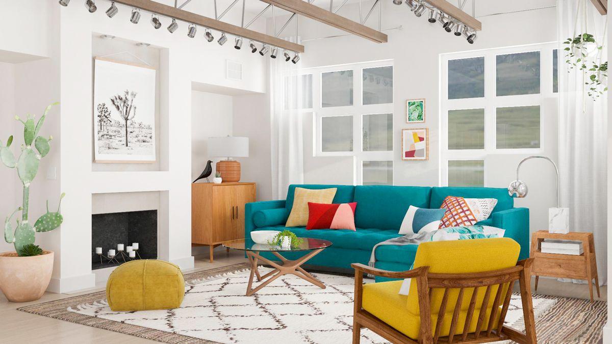 Modern Interior Design Vs Industrial Interior Design What S The Difference In 2020 Mid Century Modern Interior Design Modern Interior Design Living Room Design Modern