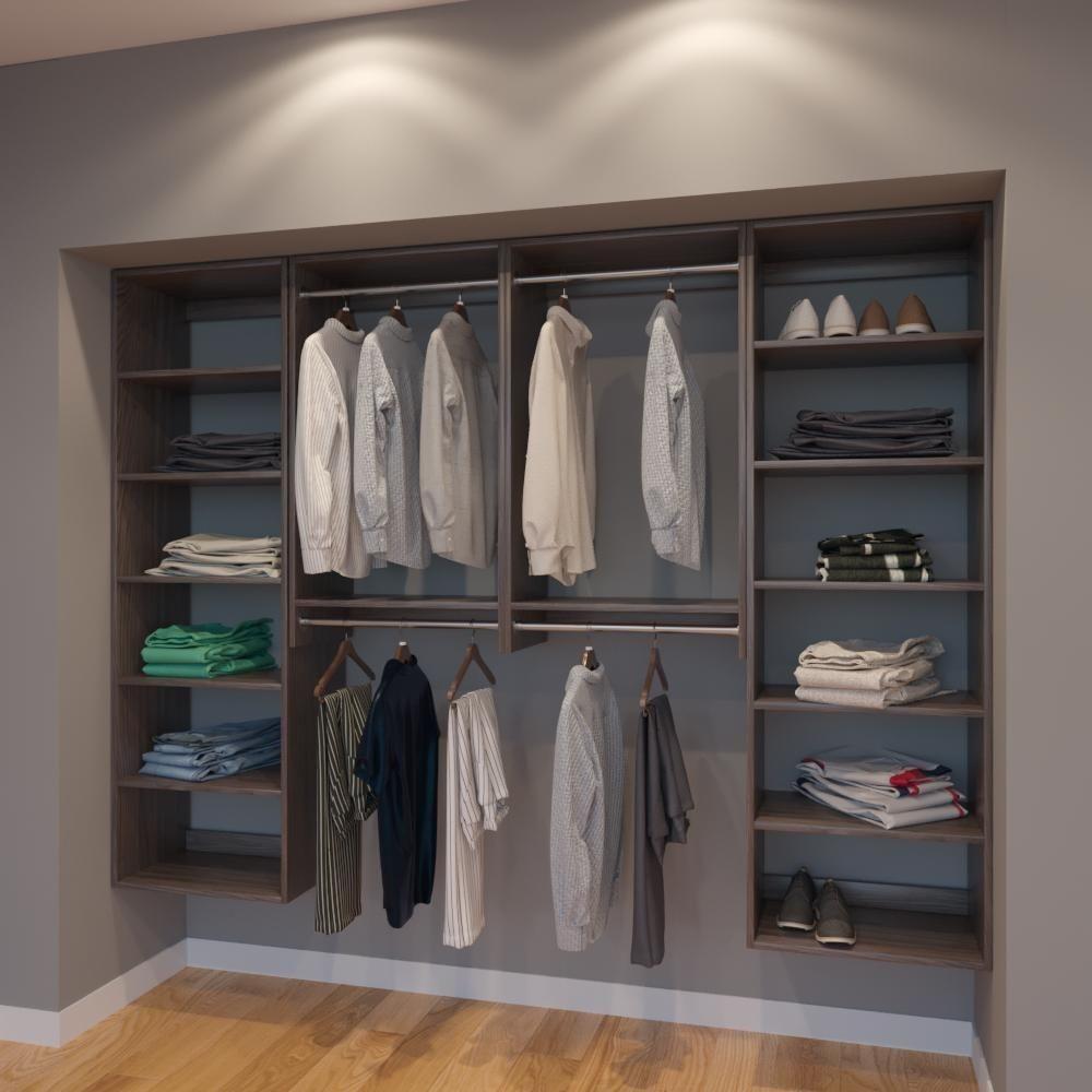 Modular Closets Vista 8 Ft Closet Organizer System 96 Inch