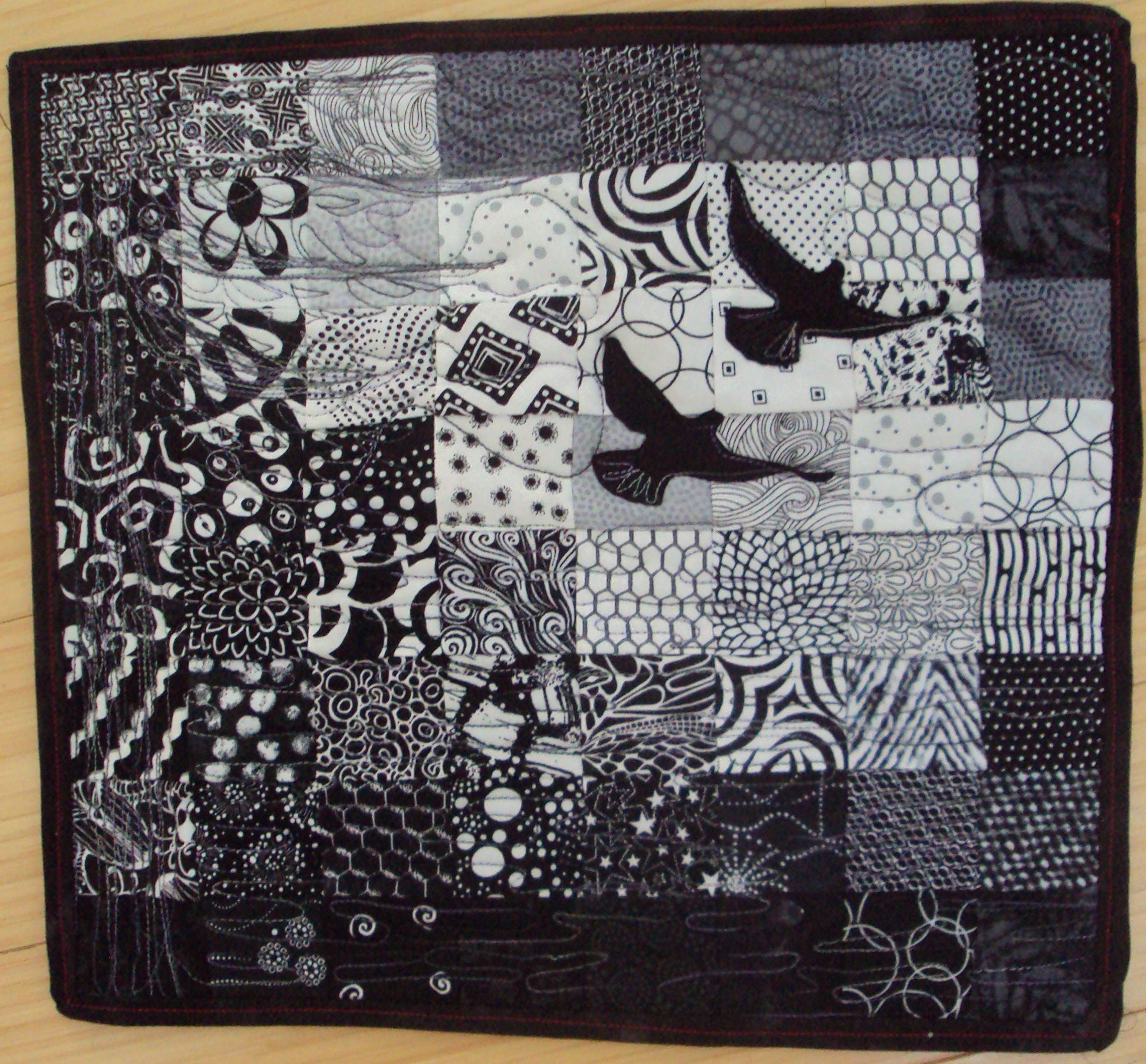 black quilt both quilts yellow mountains dads dsc and or beach
