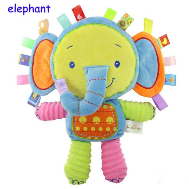 Happy Elephant Doll with Rattles