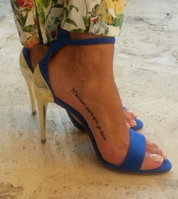 Foot Script Tattoo - Google Search