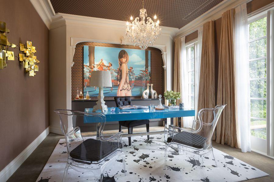 Office Room by @massimosperoni  | Australian Designers. Interiors. Modern Living. | #australiandesign #homedecor #modernhomes | More inspiration at: https://www.brabbu.com/en/inspiration-and-ideas/.