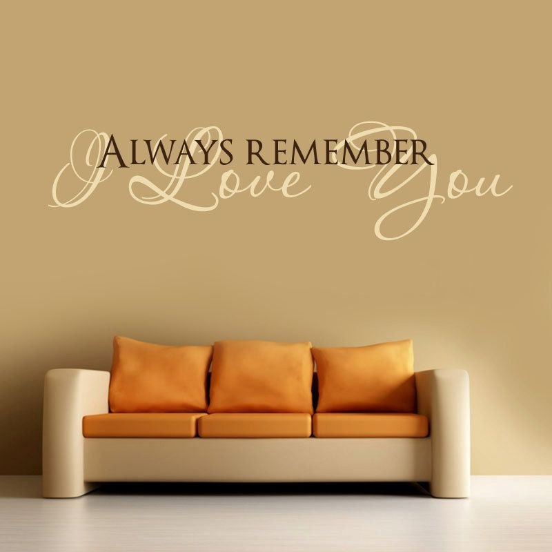 I LOVE YOU ... Vinyl Wall Decal Words Lettering Quote -Bedroom ...