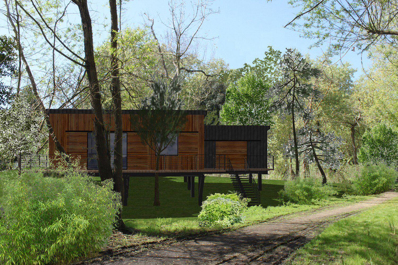 Plan 3D Maison Bois Pilotis Loreleivilleret.com
