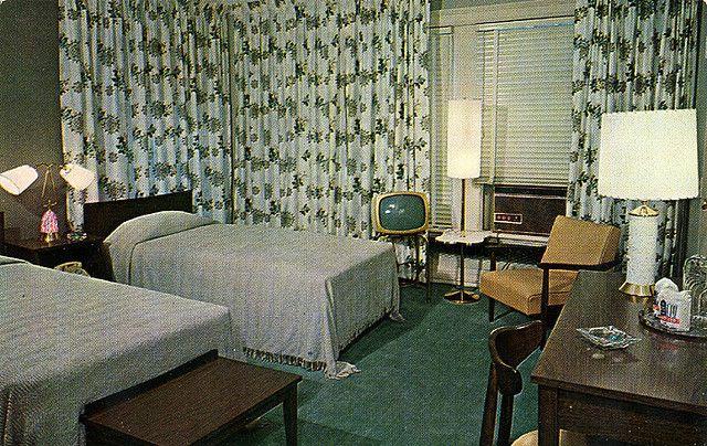 Hampton Motor Hotel 1950 S Interior Home Bedroom Vintage