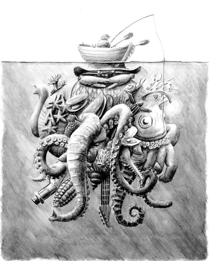 Boat Drawings Illustration Illustration Art