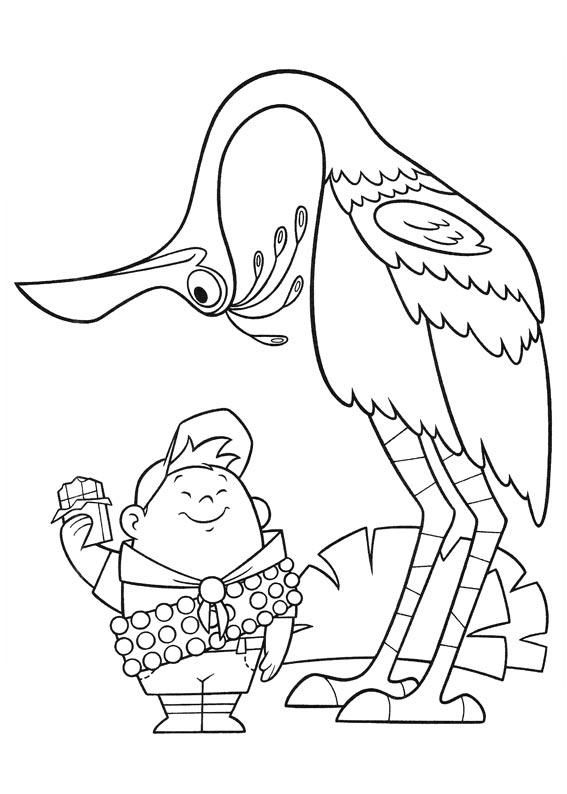 Up The Movie Coloring Coloring Pages Bird Coloring Pages Disney Up
