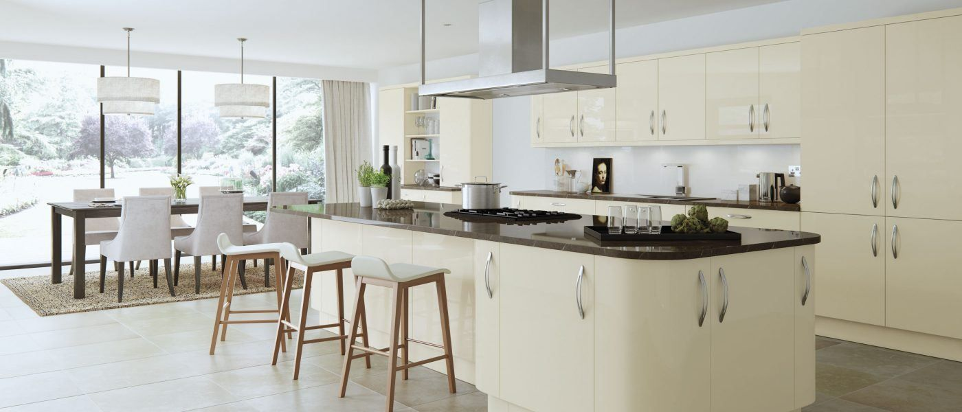 Cream kitchens are forever! Make sure you choose a colour that will ...