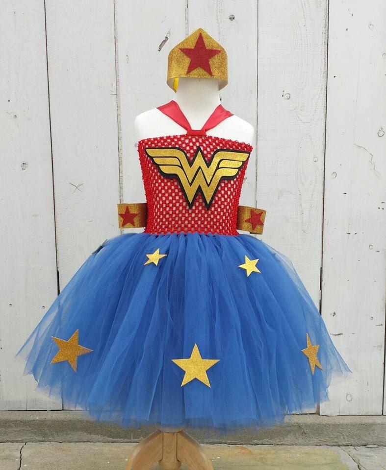 Wonder Woman Tutu Dress 4 Piece Set Size 6 Months Old To