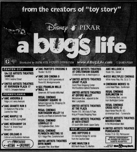 A Bug's Life (1998) A bug's life, United artists theater